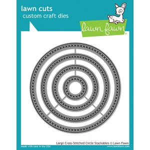 Lawn Fawn - Lawn Cuts - Large Cross Stitched Circle Stackables Dies