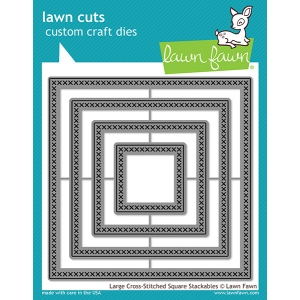 Lawn Fawn - Lawn Cuts - Large Cross Stitched Square Stackables Dies