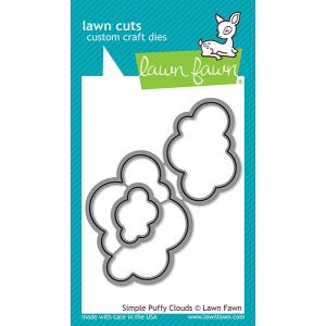 Lawn Fawn - Lawn Cuts - Simple Puffy Clouds Dies