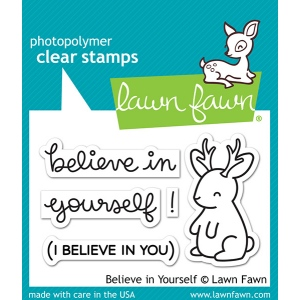 Lawn Fawn - Stamps - Believe in Yourself Stamp Set