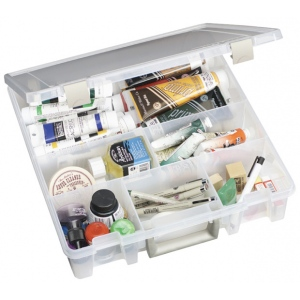 "ArtBin Super Satchel: 6 Fixed Divided Compartments, Translucent, 15.25"" x 14"" x 3.5"""
