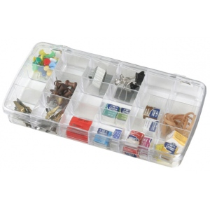 "ArtBin Prism Box: 18 Compartment, Transparent, 8.875"" x 4.875"" x 1.375"""