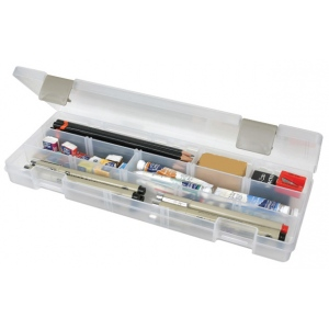 "ArtBin Solutions Long 3-Compartment Box: Translucent, 12.38"" x 4.875"" x 1.75"""