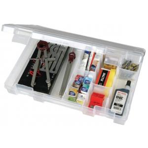 "ArtBin Solutions Medium 4 Compartment  Box: Translucent, 10.75"" x 7.375"" x 1.75"""