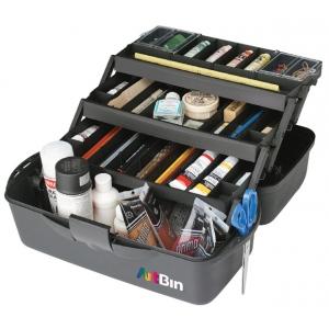 "ArtBin Essentials 3 Tray : XL, Black, 20"" x 10.25"" x 10.37"""