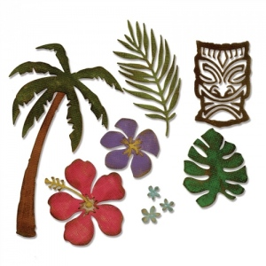 Sizzix - Tim Holtz Alterations - Thinlits - Tropical  8 Pack Die Set