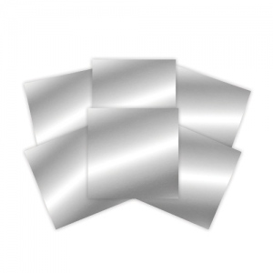 Spellbinders - Platinum Pack 2 -  6x6 Craft Metal Sheets - Silver - 6 Pieces