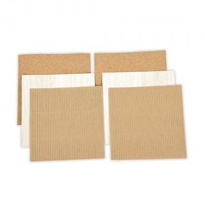 Spellbinders - Platinum Pack 5 - 6x6 Cork, Corrugated Cardboard & Balsa Wood Sheets - 6 Pieces