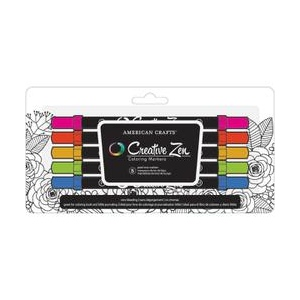 American Crafts - Adult Coloring - Coloring Book Markers - Jewel - 5 Pack