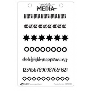 Ranger - Dina Wakley Media - Cling Stamps - Assorted Borders