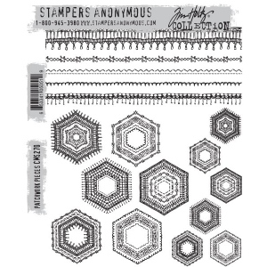 Stampers Anonymous - Tim Holtz - Patchwork Pieces Stamps