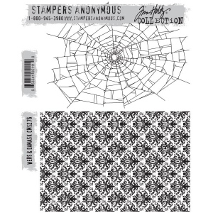 Stampers Anonymous - Tim Holtz - Webs & Damask Stamps