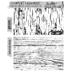 Stampers Anonymous - Tim Holtz - Birch & Pine Stamps