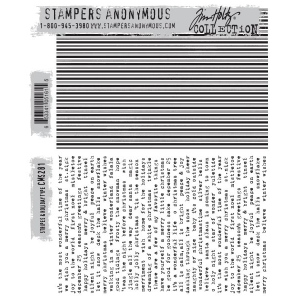 Stampers Anonymous - Tim Holtz - Stripes & Holiday Stamps