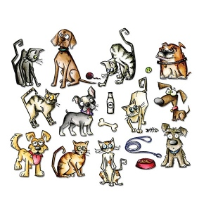 Sizzix - Tim Holtz Alterations - Framelits Die Set - Mini Crazy Cats & Dogs