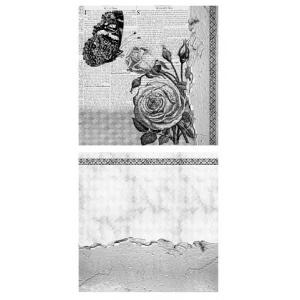 Canvas Corp - 12x12 Mixed Media Origins Paper - Blooms