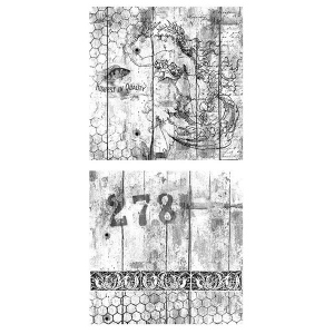 Canvas Corp - 12x12 Mixed Media Origins Paper - Mermaids