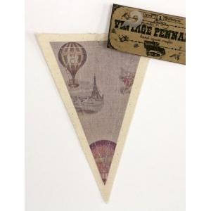 Canvas Corp - Vintage Pennant - Hot Air Ballons
