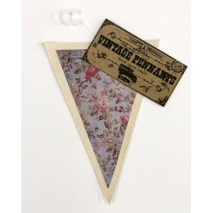 Canvas Corp - Vintage Pennant - Tea Roses
