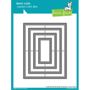 Lawn Fawn - Lawn Cuts - Large Dotted Rectangle Stackables Dies