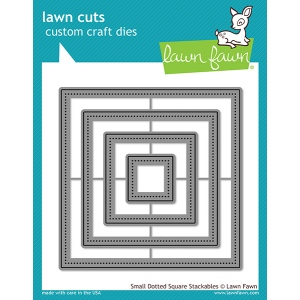 Lawn Fawn - Lawn Cuts - Small Dotted Square Stackables Dies