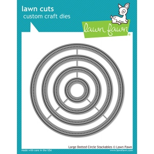 Lawn Fawn - Lawn Cuts - Large Dotted Circle Stackables Dies