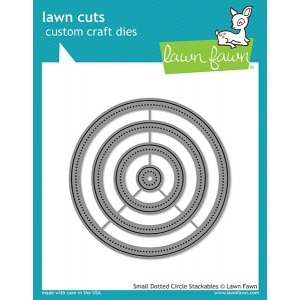 Lawn Fawn - Lawn Cuts - Small Dotted Circle Stackables Dies
