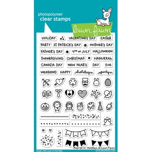 Lawn Fawn - Plan On It - Holidays Stamps