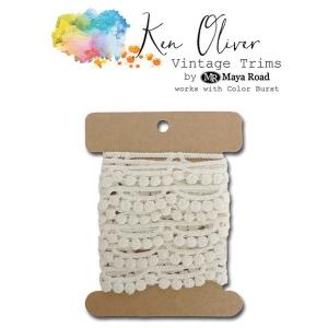 Maya Road - Ken Oliver - Vintage Trims - Scallop Dot - 2 yds
