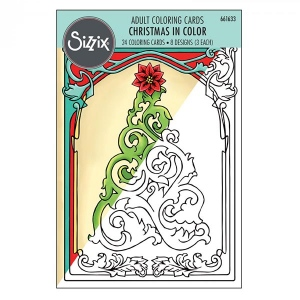 Sizzix - Coloring Cards - Christmas in Color by Jen Long