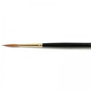 Natural Pigments Kolinsky Script Brush Size 8 - Brush Style: Script; Ferrule: Gold-plated brass; Size: 8; Hair Width: 3.5 mm (1/8 in.); Hair Length: 24 mm (15/16 in.)