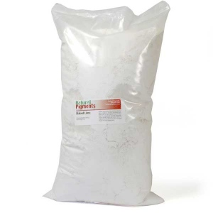 Natural Pigments Slaked Lime (calcium hydroxide) 5 kg - Color: Soft white powder