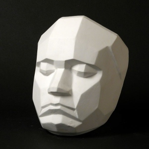 Natural Pigments Drawing Plaster Cast Face (Planar)