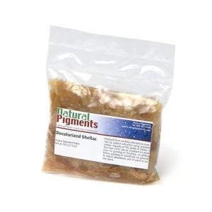 Natural Pigments Platina Dewaxed Shellac Flakes 100 g