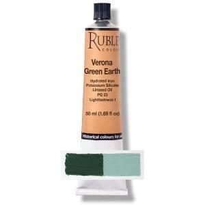 Natural Pigments Verona Green Earth 50 ml - Color: Green