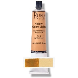 Natural Pigments Yellow Ocher Light 50 ml - Color: Yellow