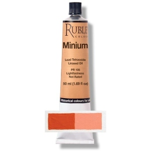 Natural Pigments Minium (Red Lead) 50 ml - Color: Red