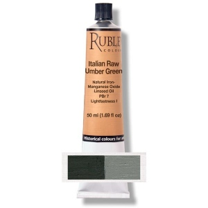 Natural Pigments Italian Raw Umber Green 50 ml