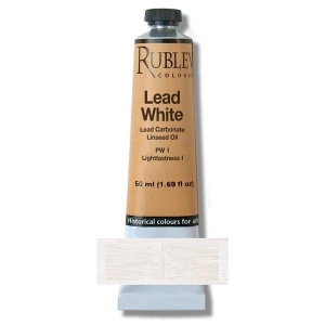 Natural Pigments Lead White 50 ml - Color: White