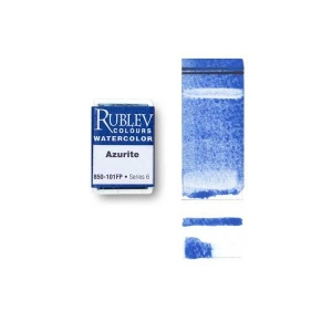 Natural Pigments Azurite (Full Pan) - Color: Blue