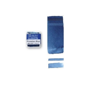 Natural Pigments Prussian Blue (Half Pan) - Color: Blue