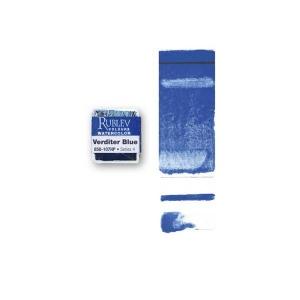 Natural Pigments Verditer Blue (Half Pan) - Color: Blue
