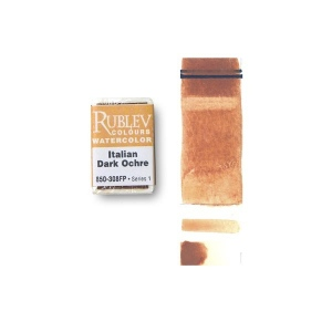Natural Pigments Italian Dark Ocher (Full Pan) - Color: Orange