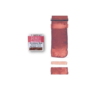 Natural Pigments Ercolano Red (Half Pan) - Color: Red