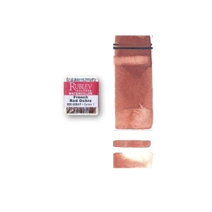 Natural Pigments French Red Ochre (Half Pan) - Color: Red