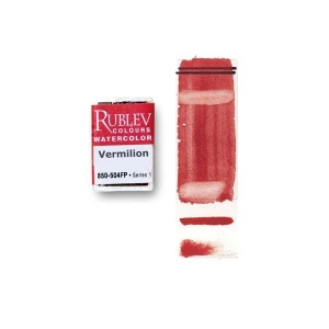 Natural Pigments Vermilion (Full Pan) - Color: Red