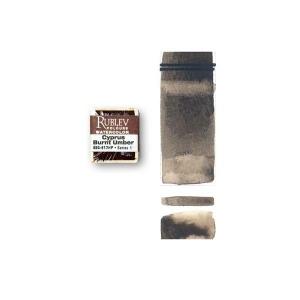 Natural Pigments Cyprus Burnt Umber (Half Pan) - Color: Brown