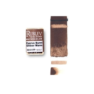 Natural Pigments Cyprus Burnt Umber Warm (Full Pan) - Color: Brown