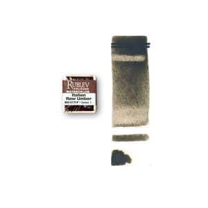 Natural Pigments Italian Green Umber (Half Pan) - Color: Brown