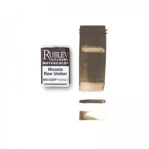 Natural Pigments Nicosia Raw Umber (Full Pan) - Color: Brown